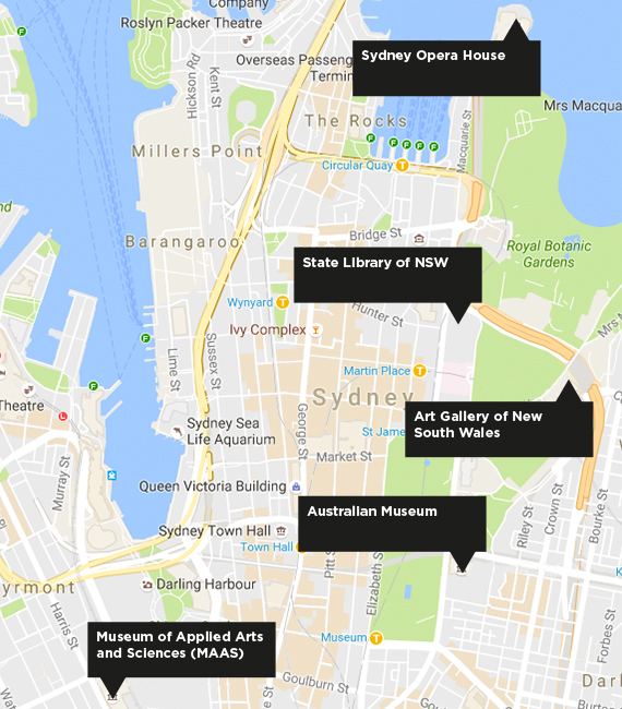 Map of Sydney & CI Locations